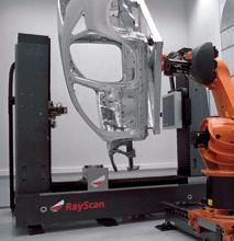RayScan Anlage mit Roboter und Autokarosserie