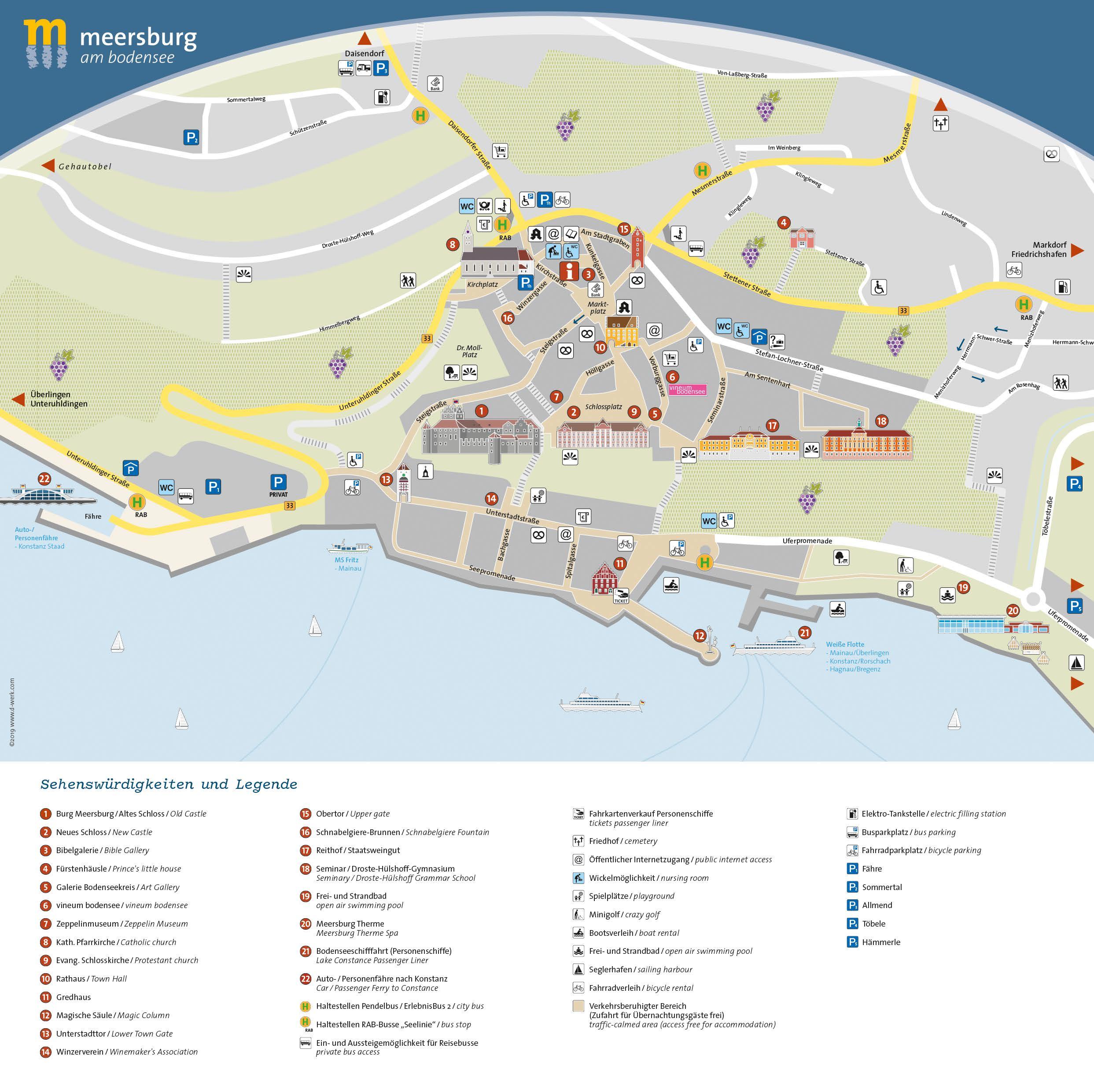 Stadtplan Meersburg