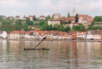 Blick vom Bodensee auf die Uferpromenade