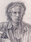 Gezeichnetes Portrait von Hans Dieter.