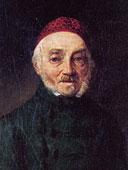 Gezeichnetes Portrait von Freiherr Joseph von Laßberg.