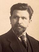 Schwarz-weiß Fotografie eines Portraits von Doktor Fritz  Zimmermann.