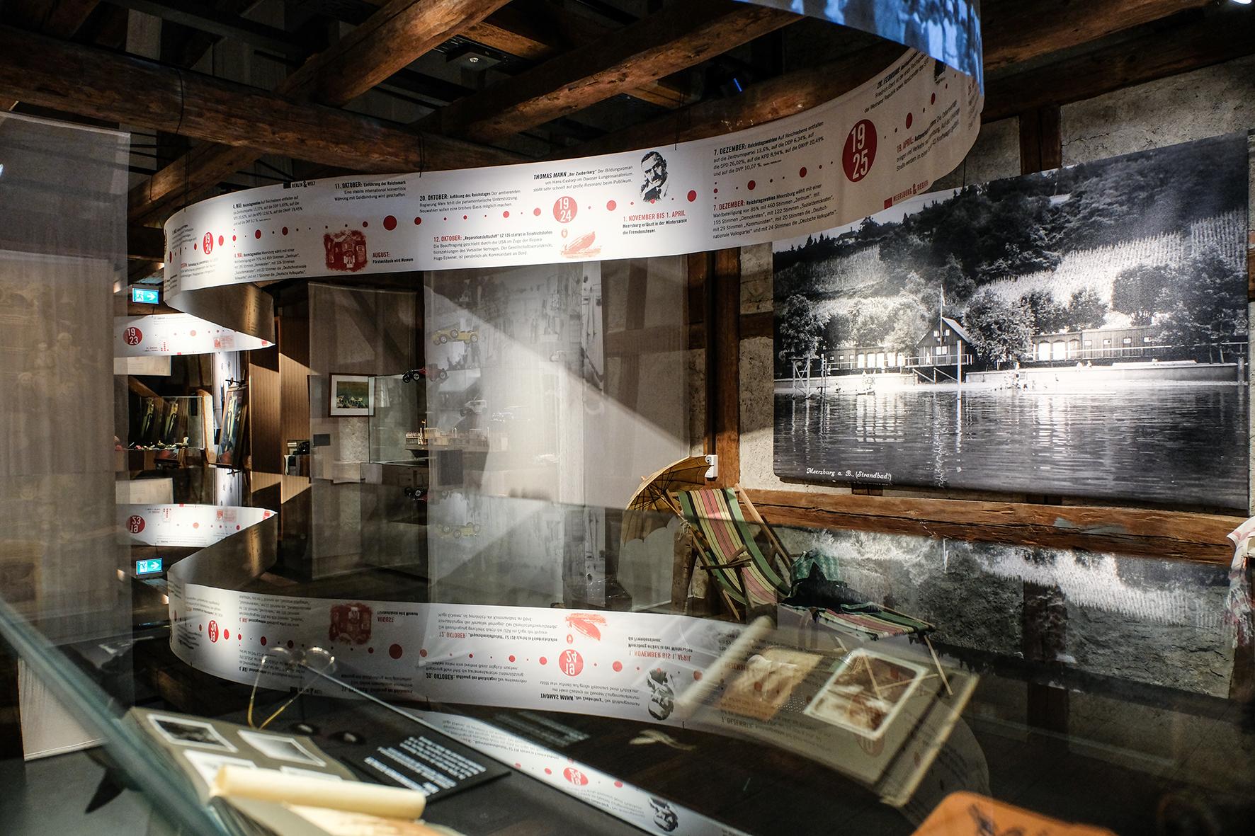 """Blick in die Ausstellung """"Die 1920er in Meersburg"""""""