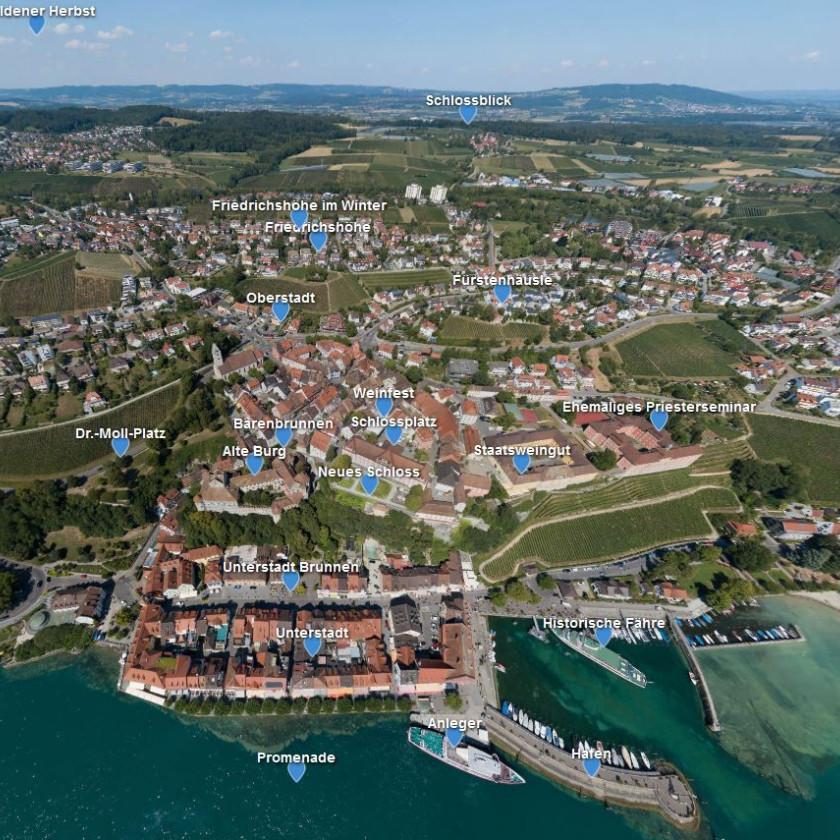 360 Grad Panorama von Meersburg